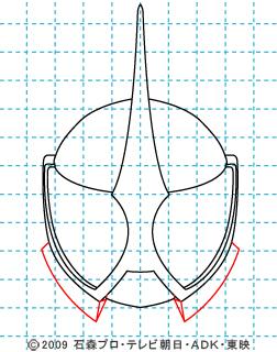 仮面ライダーW(ダブル) 仮面ライダーアクセル イラストの描き方 05