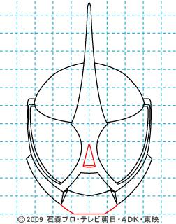 仮面ライダーW(ダブル) 仮面ライダーアクセル イラストの描き方 06