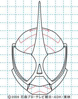 仮面ライダーW(ダブル) 仮面ライダーアクセル イラストの描き方 07