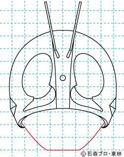 仮面ライダー 仮面ライダー新1号 イラストの描き方 Mask rider 07