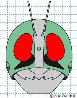 仮面ライダー 仮面ライダー新1号 イラストの描き方 Mask rider 完成01