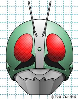 仮面ライダー 仮面ライダー新1号 イラストの描き方 Mask rider 完成02