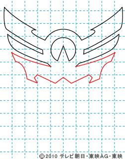 天装戦隊ゴセイジャー イラストの描き方 gosei マーク(スカイック・シーイック・ランディック)03