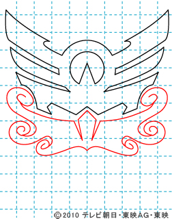天装戦隊ゴセイジャー イラストの描き方 gosei マーク(スカイック・シーイック・ランディック)04