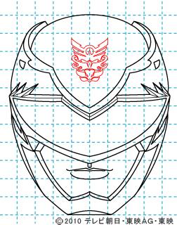 天装戦隊ゴセイジャー ゴセイレッド イラストの描き方 gosei red10