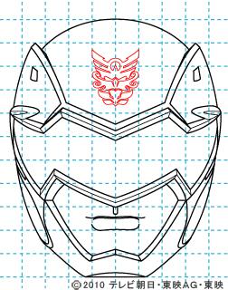 天装戦隊ゴセイジャー ゴセイブラック イラストの描き方 gosei black10
