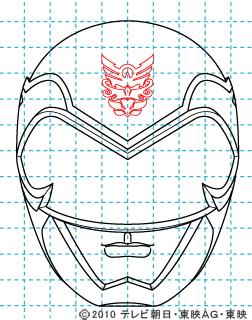 天装戦隊ゴセイジャー ゴセイピンク イラストの描き方 gosei pink10