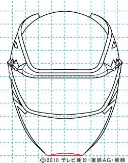 天装戦隊ゴセイジャー ゴセイブルー イラストの描き方 gosei blue07