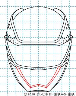 天装戦隊ゴセイジャー ゴセイブルー イラストの描き方 gosei blue08
