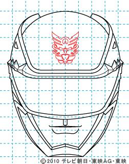 天装戦隊ゴセイジャー ゴセイブルー イラストの描き方 gosei blue10