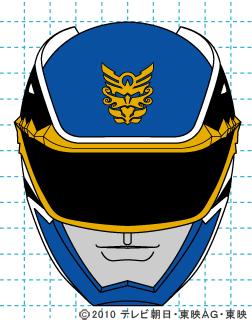 天装戦隊ゴセイジャー ゴセイブルー イラストの描き方 gosei blue完成01