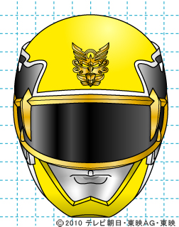 天装戦隊ゴセイジャー ゴセイイエロー イラストの描き方 gosei yellow完成02