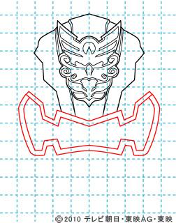 天装戦隊ゴセイジャー ゴセイナイト イラストの描き方 gosei knight04