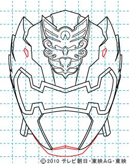 天装戦隊ゴセイジャー ゴセイナイト イラストの描き方 gosei knight07