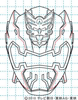 天装戦隊ゴセイジャー ゴセイナイト イラストの描き方 gosei knight09