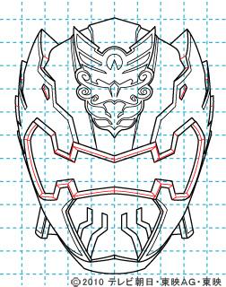 天装戦隊ゴセイジャー ゴセイナイト イラストの描き方 gosei knight10
