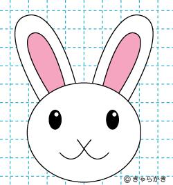 動物 ウサギ イラストの描き方 rabbit 完成01