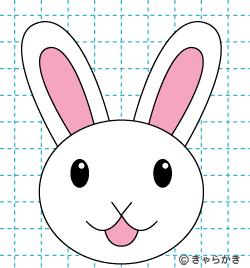 動物 ウサギ イラストの描き方 rabbit 完成02
