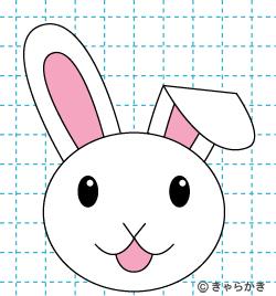 動物 ウサギ イラストの描き方 rabbit 完成03