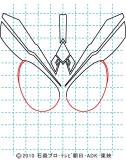 仮面ライダーオーズ オーズ タトバコンボ ooo イラストの描き方 05