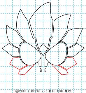 仮面ライダーオーズ ooo イラストの描き方 ラトラーター06.jpg