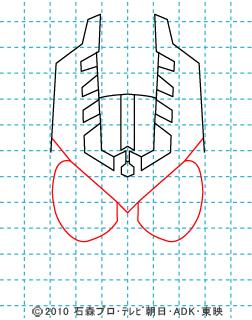 仮面ライダーオーズ イラストの描き方 ガタキリバ04.jpg