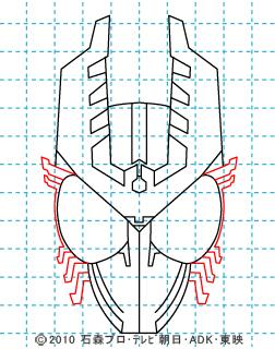 仮面ライダーオーズ イラストの描き方 ガタキリバ07.jpg