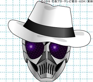 仮面ライダーW(ダブル) 仮面ライダースカル イラストの描き方 おやじさん完成02