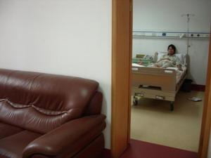 昆明豪華病室で点滴