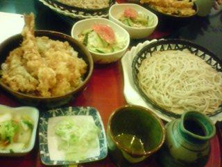 お蕎麦と天丼セット