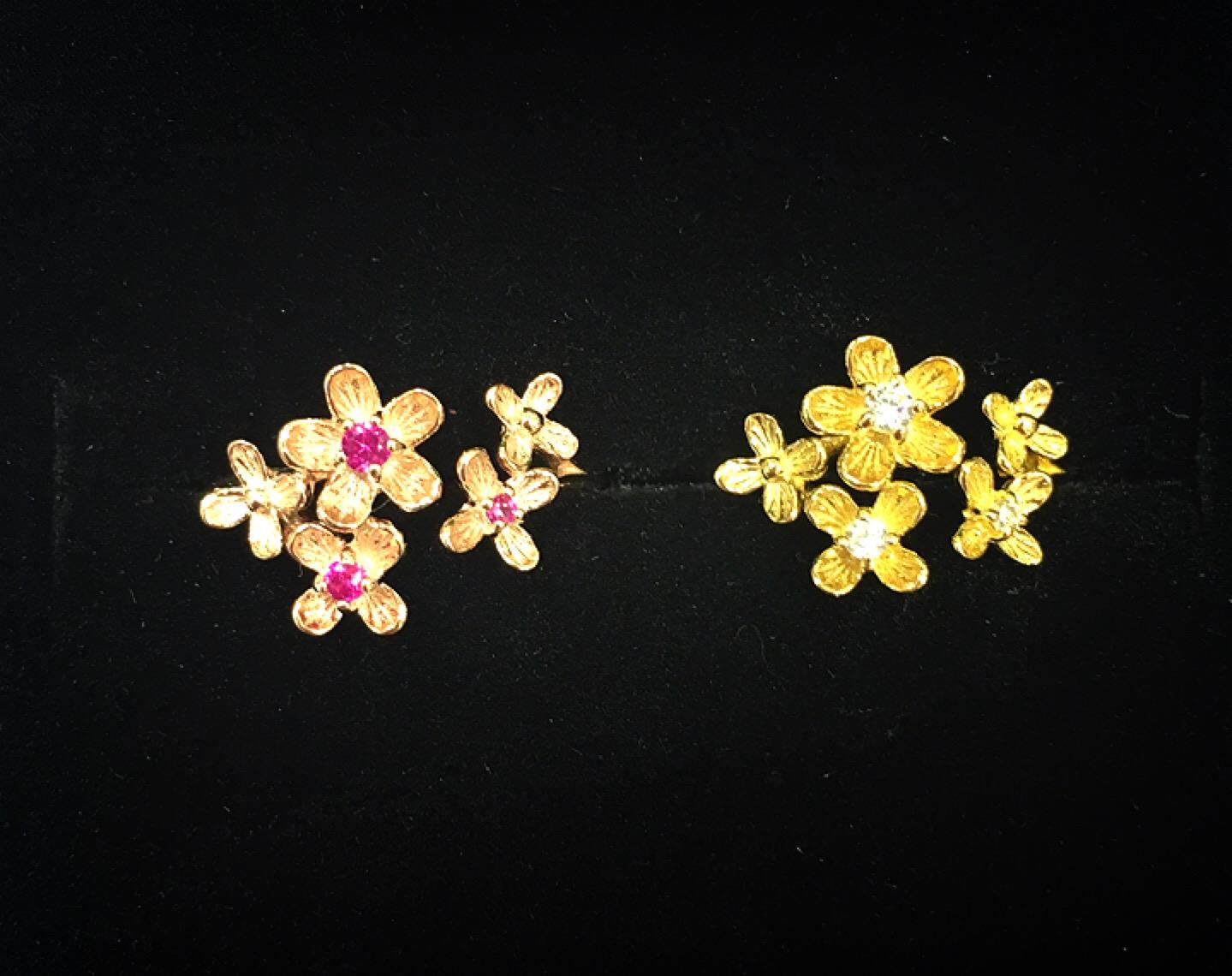 MU-RA,ムーラ,シルバーアクセサリー,フラワーモチーフ,花アクセ,2016春流行