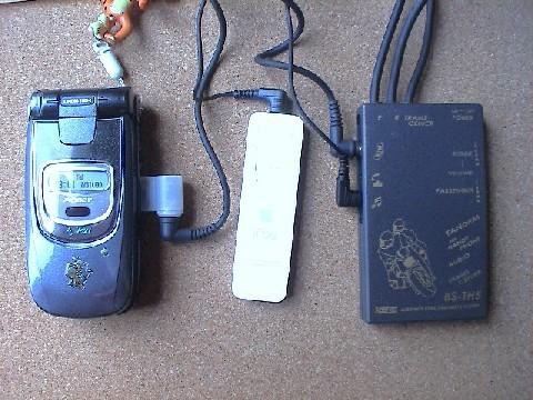 ケイタイや iPod Shuffle 等も接続する事ができます。