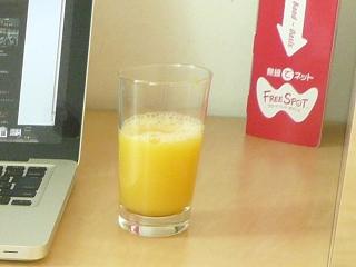 鹿児島空港のラウンジにはマンゴージュースがありました! (^o^)