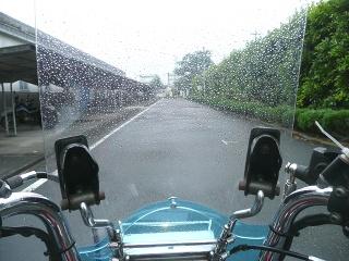 お湿り程度の雨が心地良かったです。 (^-^)
