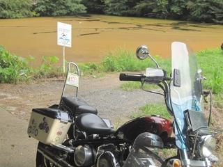 沼が赤くなってました!? (@_@)