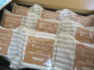 ロイズのチョコレートウエハースです。 (^-^)