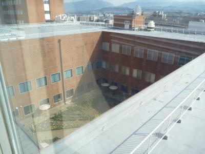 病院の窓から