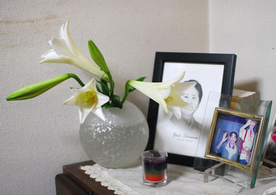 ユリのお花で報告
