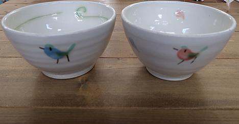 鳥のお茶碗
