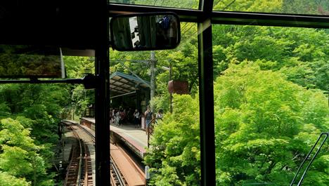 叡山電車 もみじのトンネル