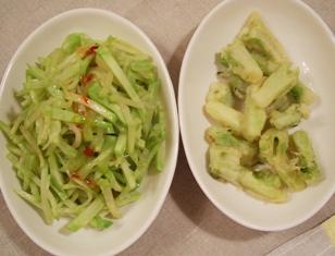 きんぴら&天ぷら(ブロッコリーの茎活用レシピ)