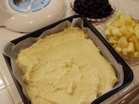 フルーツコブラー(フルーツケーキ)レシピ1