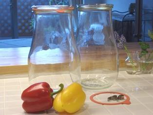 梅酒を漬ける ガラス瓶