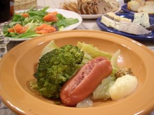 ソーセージと野菜の蒸し煮