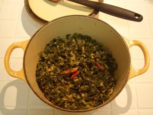 大根の葉っぱのピリ辛炒め