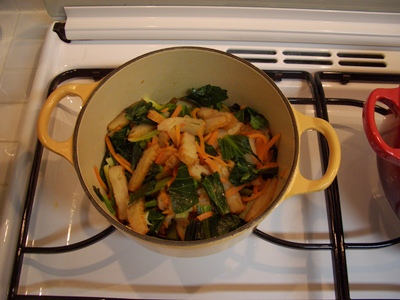 小松菜とさつま揚げの煮びたし