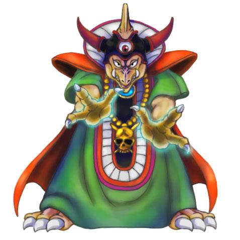 初めてプレイした思い出深きドラクエ3の魔王を描いてみた。