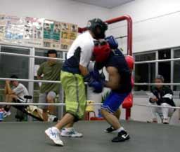 水島選手VS知念練習生