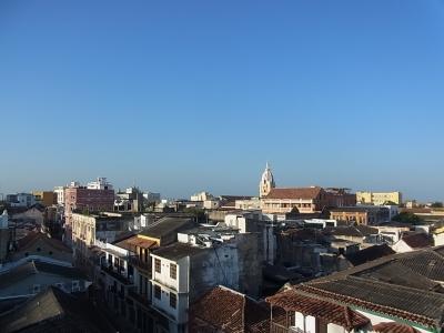 ホテル屋上からカルナヘナ市街地を