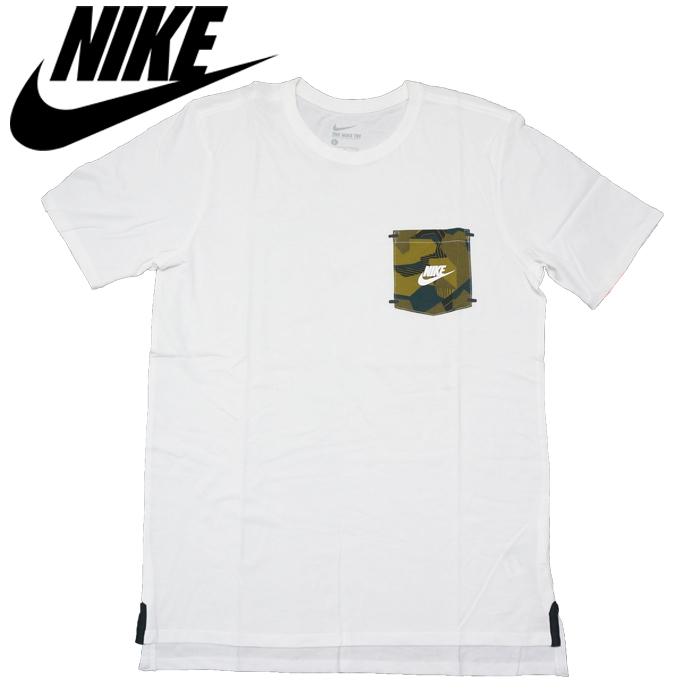 b949e8a91fca0 NIKE ドロップ ヘム ポケット Tシャツ (WHITE) 通販サイト BPM公式通販サイト